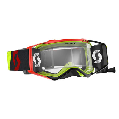 Scott Prospect Works Film System Goggle  Yellow-Red Frame/Clear Works Lens