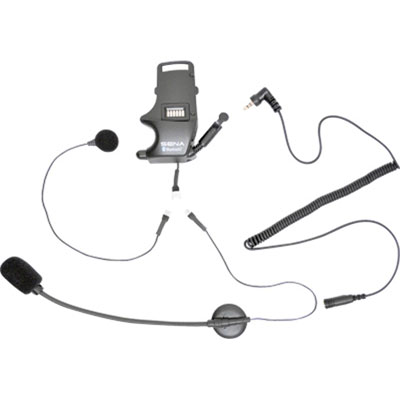 Sena SMH10 Helmet Clamp Kit - For Earbuds with Attachable Boom Microphone and Wired Microphone
