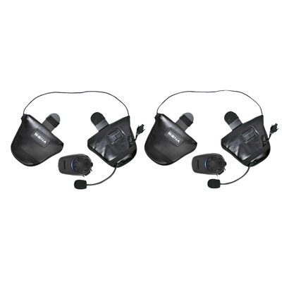 Sena SPH10-FM Bluetooth Headset and Intercom for Half Helmets Dual Pack
