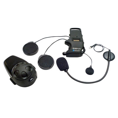 Sena SMH10 Bluetooth Communication System with Universal Microphone Kit Single