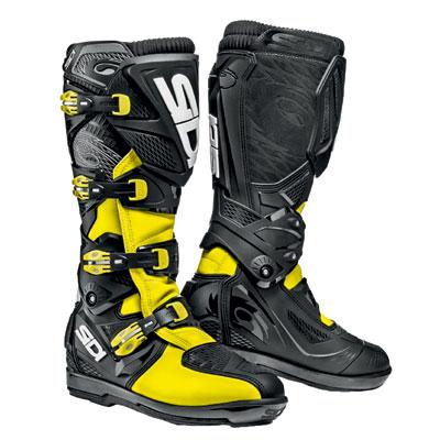 Sidi X-3 SRS Boots Size 13 Black/Flo Yellow