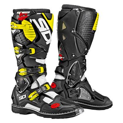 Sidi Crossfire 3 TA Boots Size 11 White/Black/Flo Yellow