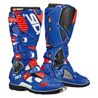 Sidi Crossfire 3 TA Boots Size 10 White/Blue/Flo Red