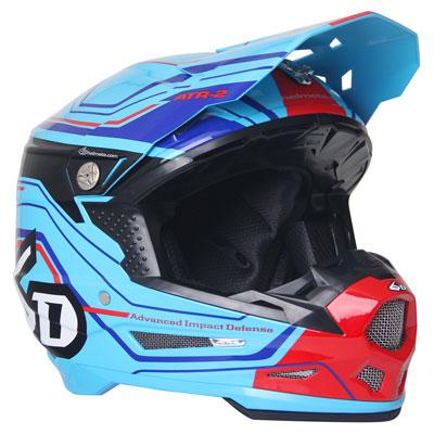 6D ATR-2 Circuit Helmet X-Small Neon Blue