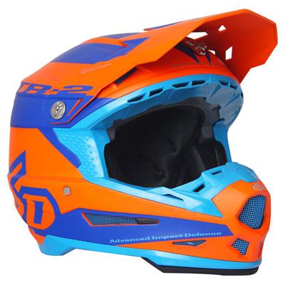 6D ATR-2 Sector Helmet Small Matte Orange/Blue