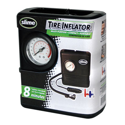Slime Air Compressor with Pressure Gauge 300 psi