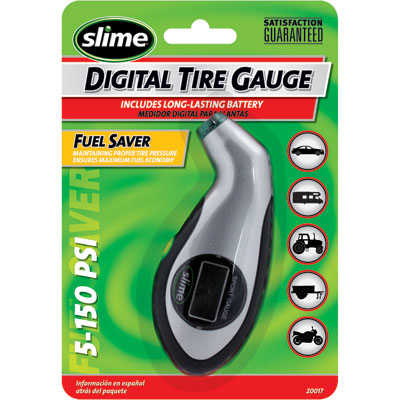Slime Sport Digital Tire Pressure Gauge 5-150 psi