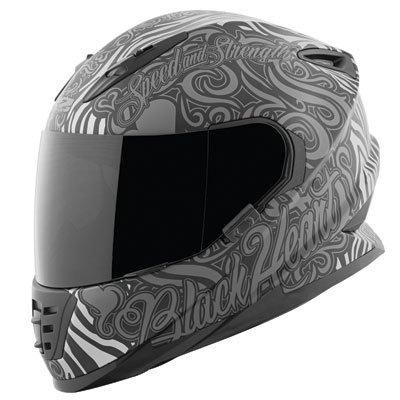 Speed and Strength Women's SS1310 Black Heart Helmet Large Black/Grey