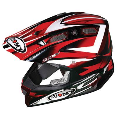 Suomy Alpha Helmet Large Bike Red