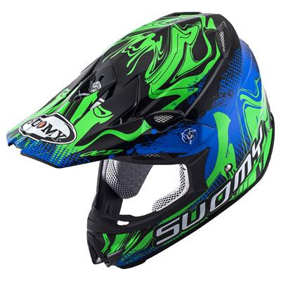 Suomy MX Jump Graffiti Helmet X-Large Blue/Green