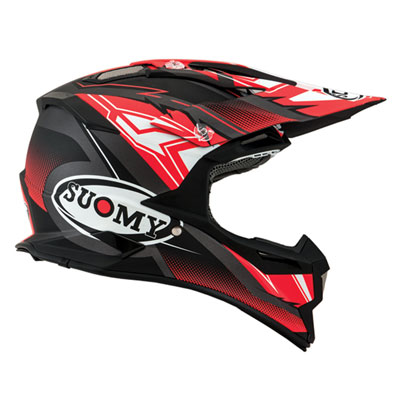 Suomy Alpha Helmet X-Small Waves Red/Silver