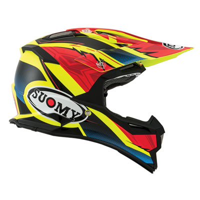 Suomy Alpha Helmet Large Waves Red/Yellow
