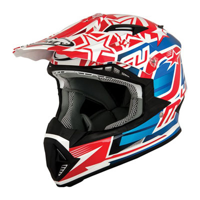 Suomy Rumble Freedom Helmet Large Red/Blue