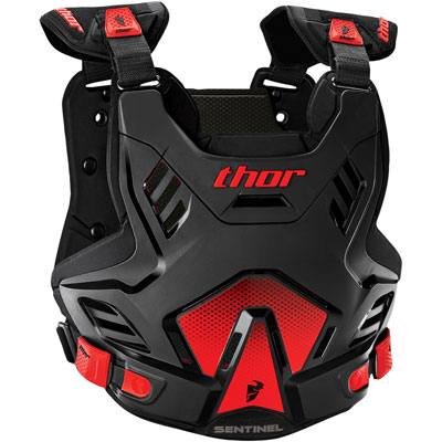 Thor Sentinel GP Roost Deflector Medium/Large Black/Red