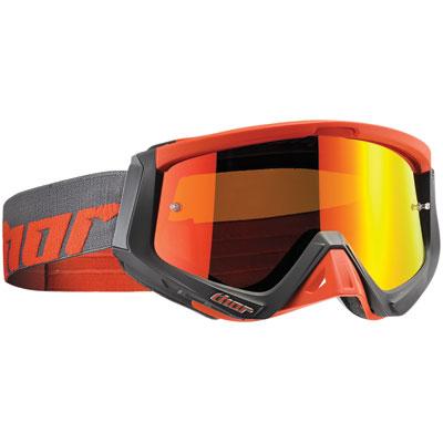 Thor Sniper Goggle  Warship Charcoal/Orange