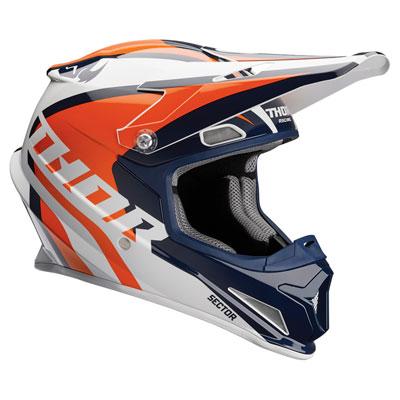 Thor Sector Ricochet Helmet Large Navy/Orange