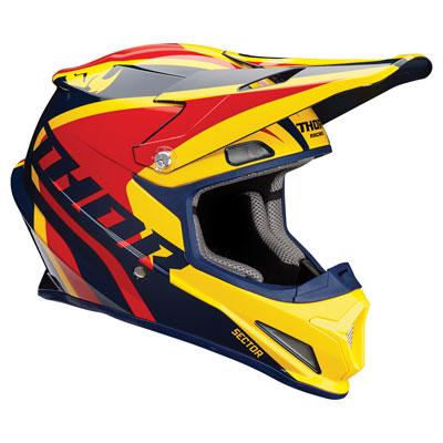 Thor Sector Ricochet Helmet X-Small Navy/Yellow