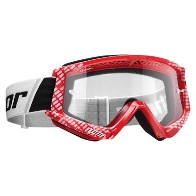 Thor Combat Goggle  Cap Red/White