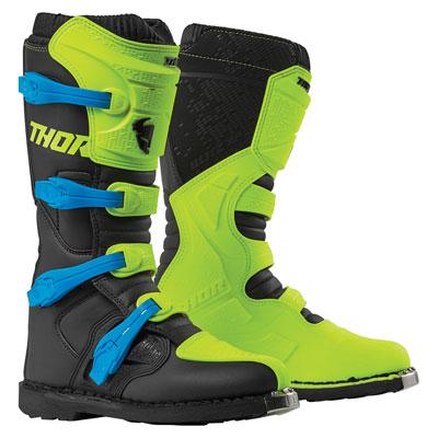 Thor Blitz XP Boots Size 10 Flo Acid/Black