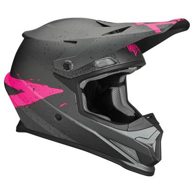 Thor Sector Hype Helmet Large Grey/Pink