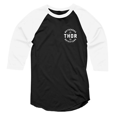 Thor Outfitters 3/4 Sleeve T-Shirt Small Black