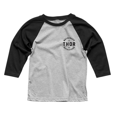 Thor Youth Outfitters 3/4 Sleeve T-Shirt Small Black