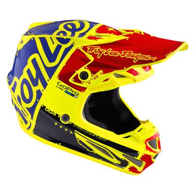 Troy Lee SE4 Factory Carbon Helmet Large Flo Yellow