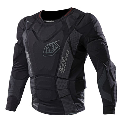 Troy Lee 7855 Protective Long Sleeve Shirt Medium Black