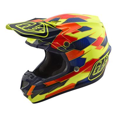 Troy Lee SE4 Maze Composite Helmet XX-Large Yellow/Blue