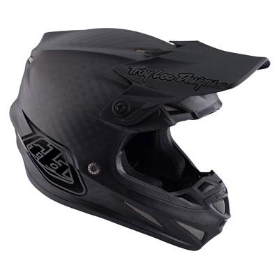 Troy Lee SE4 Midnight Carbon Helmet XX-Large Black