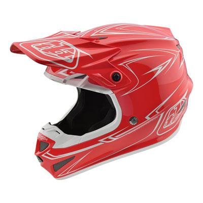Troy Lee SE4 Pinstripe Helmet Small Red