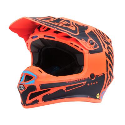 Troy Lee SE4 Factory Helmet Large Orange
