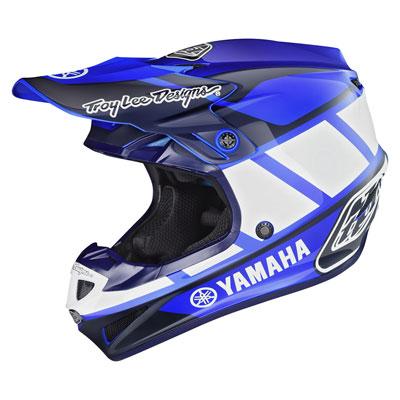 Troy Lee SE4 Yamaha Helmet Medium Blue