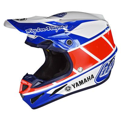 Troy Lee SE4 Yamaha Composite Helmet Medium Blue