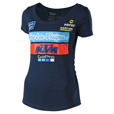 Troy Lee Women's KTM Team T-Shirt Small Navy