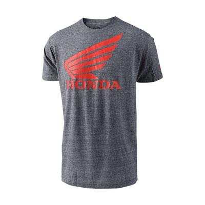 Troy Lee Honda Wing T-Shirt Medium Heather Grey