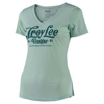 Troy Lee Women's Spiked V-Neck T-Shirt Large Mint