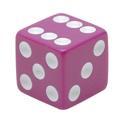 Trik Topz Dice Valve Caps  Purple