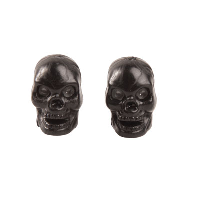 Trik Topz Skull Head Valve Caps  Black