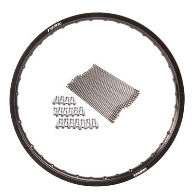 Impact Complete Wheel Front 21 x 1.60 Black Rim//Black Spoke//White Hub for Honda CRF250R 2004-2019