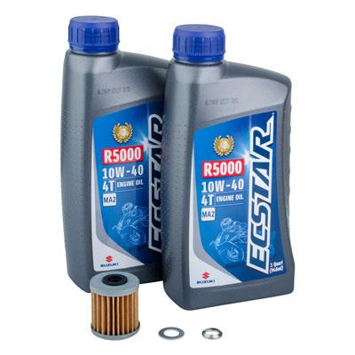 Tusk 4-Stroke Oil Change Kit  Suzuki ECSTAR R5000 10W-40
