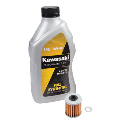 Tusk 4-Stroke Oil Change Kit  Kawasaki Full Synthetic 10W-40