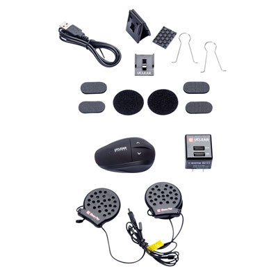UCLEAR® AMP Plus Helmet Audio System Single