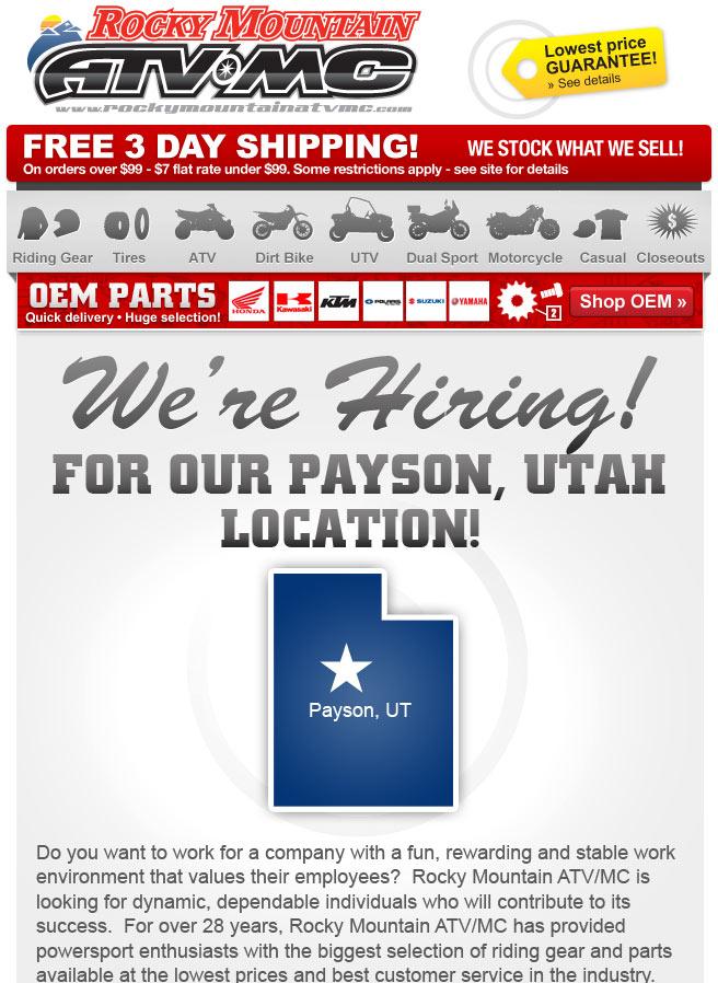 Rocky Mountain Job Openings