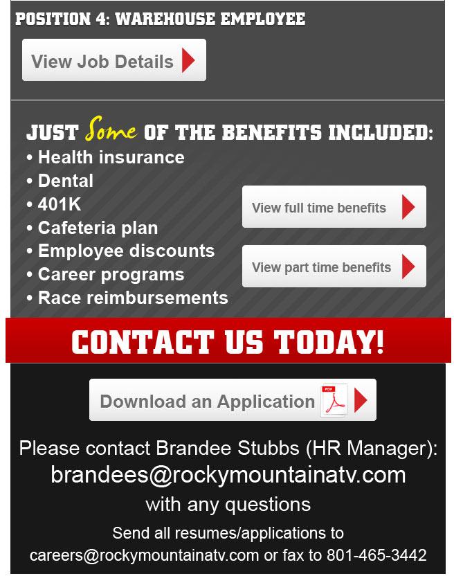 Rocky Mountain ATV/MC Job Openings