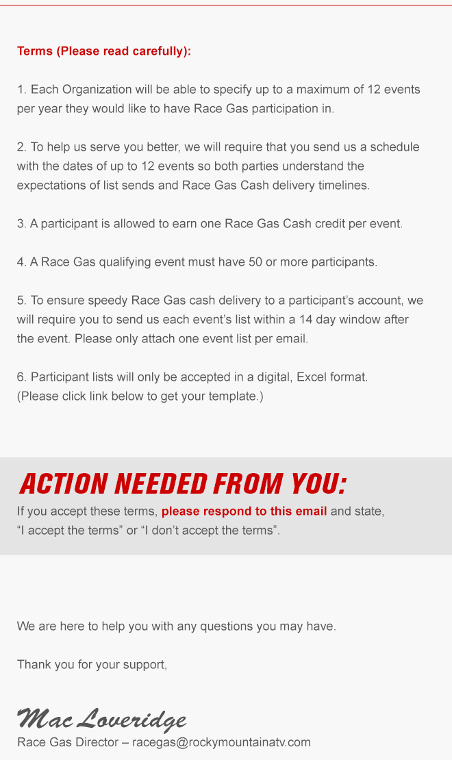 Race Gas Info - Rocky Mountain ATV/MC