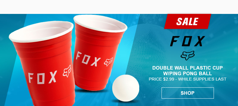 Fox Double Wall Cup and Ping Pong Ball
