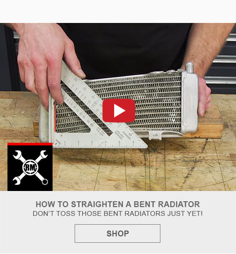 How to straighten a bent radiator