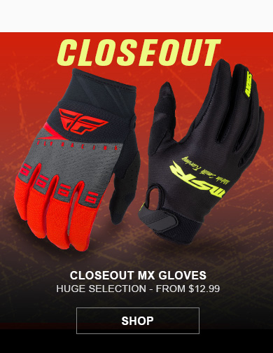 Closeout MX Gloves