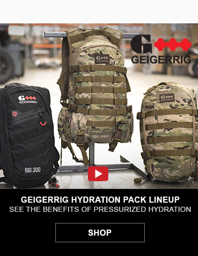 Geigerrig Hydration Pack Lineups